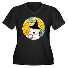 Halloween Fu Women's Plus Size Dark V-Neck T-Shirt