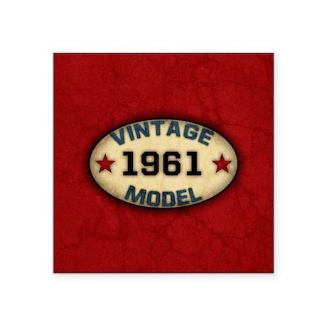 "vintage-model-1961_b Square Sticker 3"" x 3"""