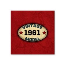 "vintage-model-1961_b Square Sticker 3"" x 3"""