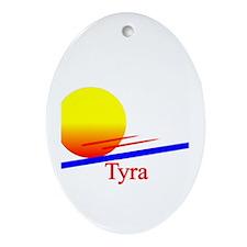 Tyra Oval Ornament