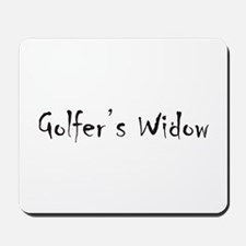 Golfer's Widow Mousepad