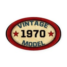 vintage-model-1970 Oval Car Magnet