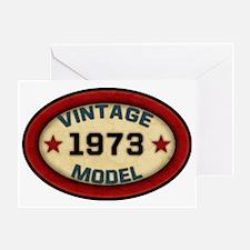 vintage-model-1973 Greeting Card