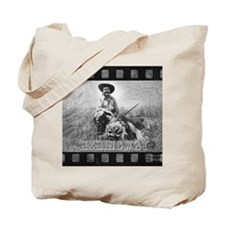Ernest Hemingway and Lion Tote Bag