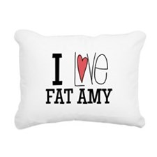 I Love Fat Amy Rectangular Canvas Pillow