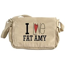 I Love Fat Amy Messenger Bag