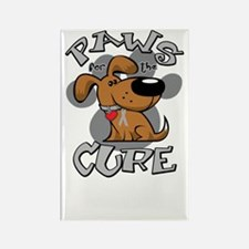 Paws-for-the-Diabetes-Cancer-blk Rectangle Magnet