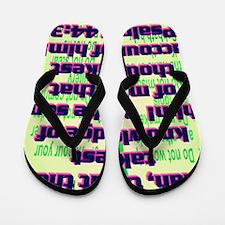 Psalm144-3(small poster) Flip Flops