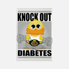 Knock-Out-Diabetes Rectangle Magnet