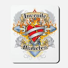 Juvenile-Diabetes-Cross--Heart Mousepad