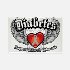 Diabetes-Wings Rectangle Magnet