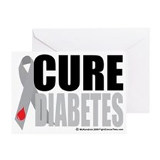 Cure-Diabetes-Ribbon Greeting Card