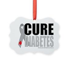 Cure-Diabetes-Ribbon Picture Ornament