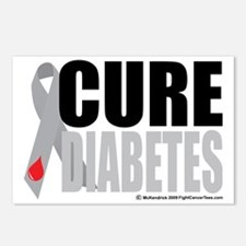 Cure-Diabetes-Ribbon Postcards (Package of 8)