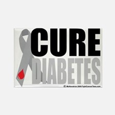 Cure-Diabetes-Ribbon Rectangle Magnet