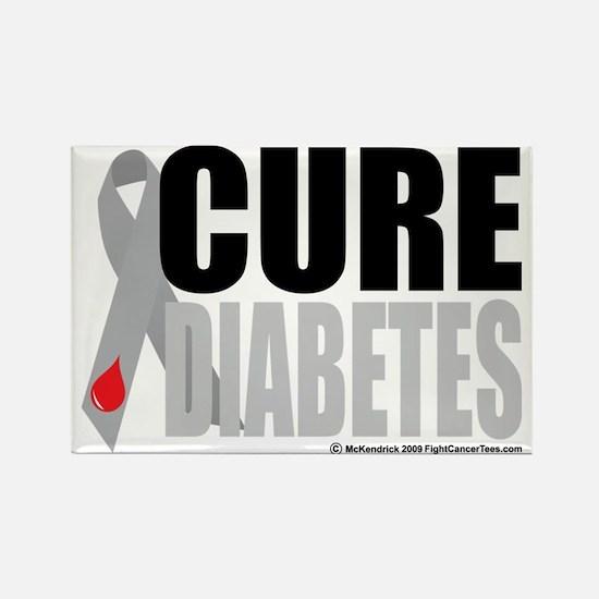 Cure-Diabetes-Ribbon Rectangle Magnet