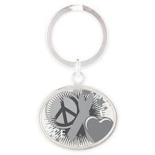 Diabetes-PLC-blk Oval Keychain