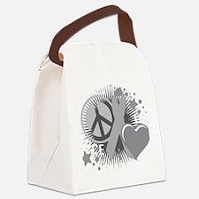 Diabetes-PLC-blk Canvas Lunch Bag