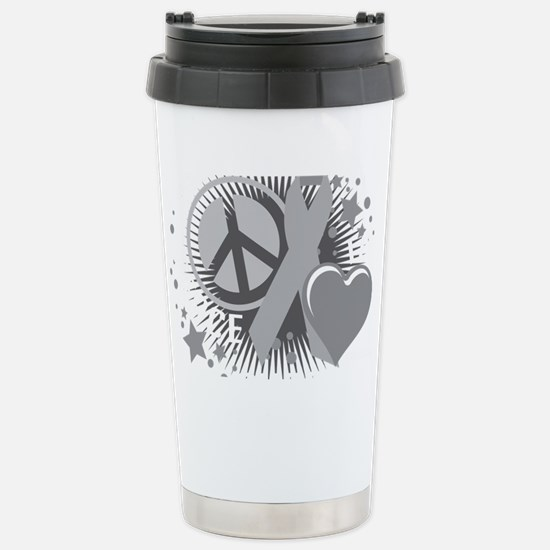 Diabetes-PLC-blk Stainless Steel Travel Mug