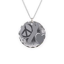 Diabetes-PLC-blk Necklace Circle Charm