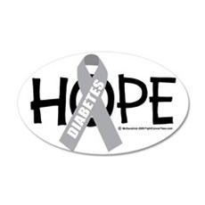 Diabetes-Hope-2 35x21 Oval Wall Decal