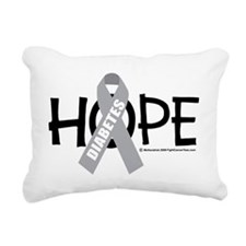 Diabetes-Hope-2 Rectangular Canvas Pillow
