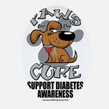 Paws-for-the-Diabetes-Cancer Oval Ornament