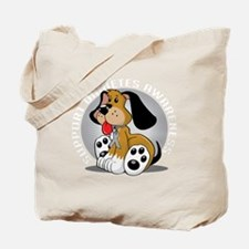 Diabetes-Dog-blk Tote Bag