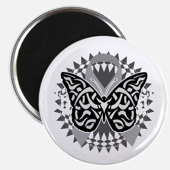 Diabetes-Butterfly-Tribal-2-blk Magnet