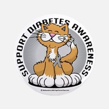"Paws-for-Diabetes-Cat 3.5"" Button"