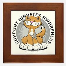 Paws-for-Diabetes-Cat Framed Tile