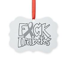 Fuck-Diabetes-blk Ornament