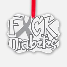 Fuck-Diabetes-blk Picture Ornament
