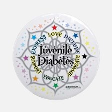 Juvenile-Diabetes-Lotus Round Ornament
