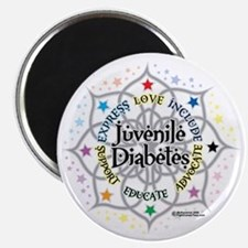 Juvenile-Diabetes-Lotus Magnet