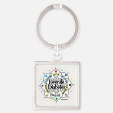 Juvenile-Diabetes-Lotus Square Keychain