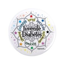 "Juvenile-Diabetes-Lotus 3.5"" Button"