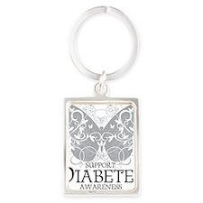 Diabetes-Butterfly Portrait Keychain
