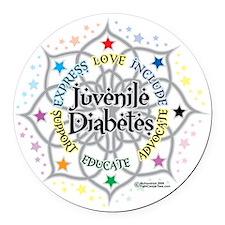 Juvenile-Diabetes-Lotus Round Car Magnet