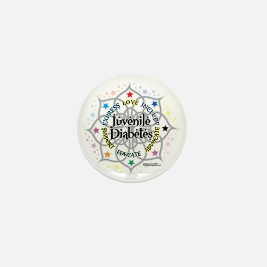Juvenile-Diabetes-Lotus Mini Button