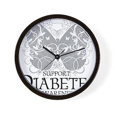 Diabetes-Butterfly Wall Clock