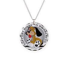 Diabetes-Dog Necklace Circle Charm