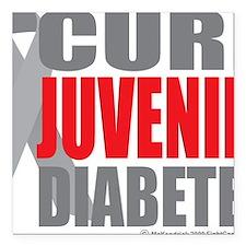 """Cure-Juvenile-Diabetes-2 Square Car Magnet 3"""" x 3"""""""
