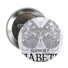 "Diabetes-Butterfly 2.25"" Button"