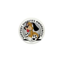 Diabetes-Dog Mini Button