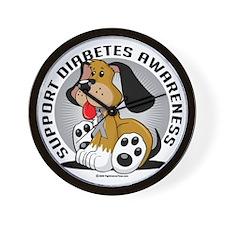 Diabetes-Dog Wall Clock