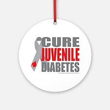 Cure-Juvenile-Diabetes-2 Round Ornament