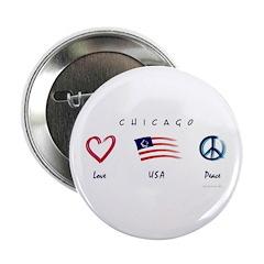 Chicago Love - USA - Peace Button
