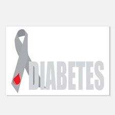 Cure-Diabetes-Ribbon-BLK Postcards (Package of 8)