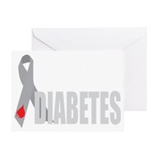Cure-Diabetes-Ribbon-BLK Greeting Card